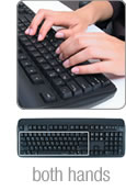 Using the Half-QWERTY Keyboard with both hands